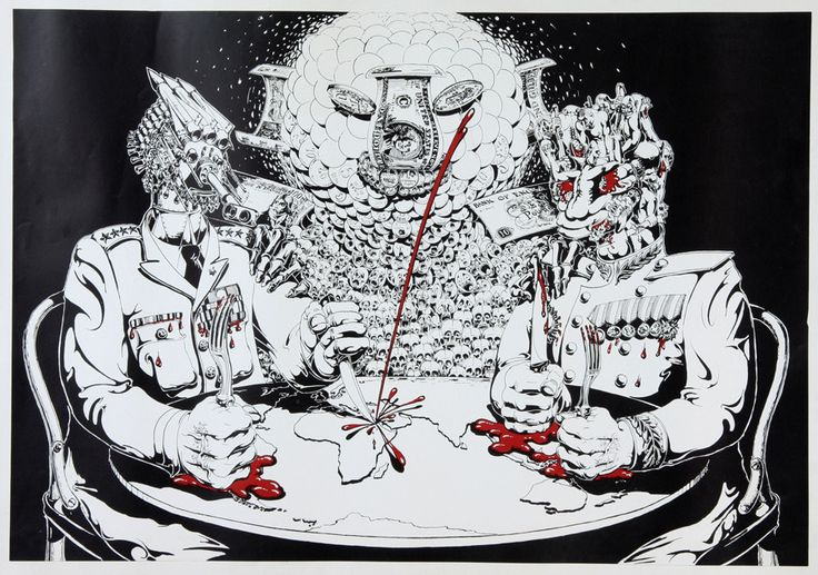 "Cold War Cake  Swedish artist Ulf Rahmberg (1935– ), ""Cake,"" from PUSS No. 18, 1970."