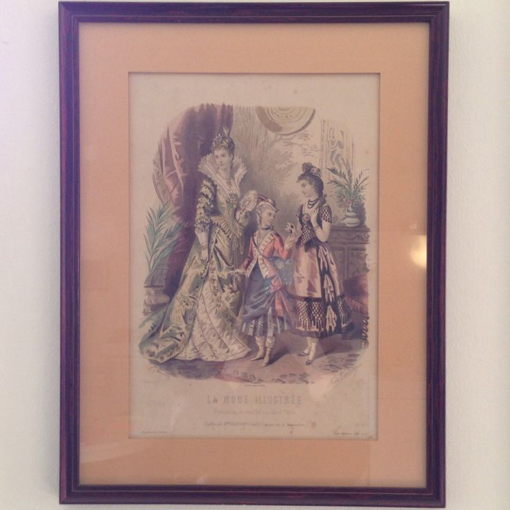 My very first antique fashion plate - from La Mode Illustrée 1877