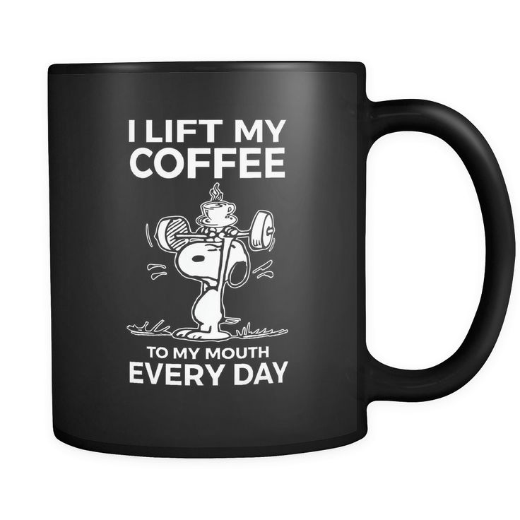 I Lift My Coffee Snoopy Mug