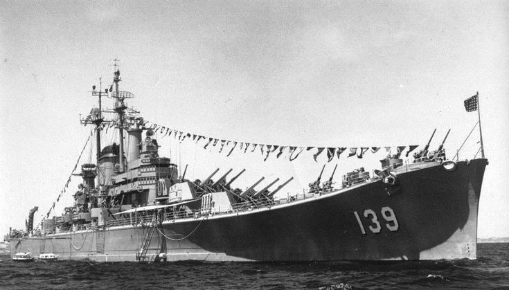 USS Salem (CA-139) - last all-gun heavy cruiser; as 6th Fleet flagship; deployments to Mediterrean and Guantanamo Bay (training); decommissioned  1959.