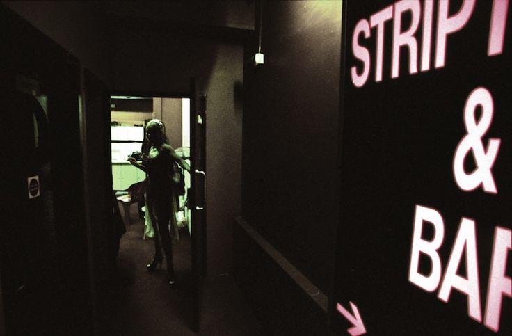 Zara welcomes me to the strip club.