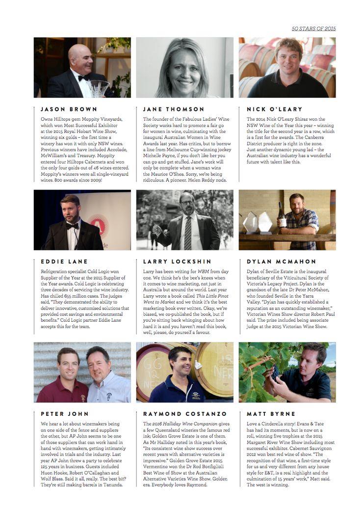 WBM Magazine January/February 2016 edition. Top 50 stars article example.