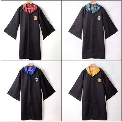 Did you receive your Hogwarts letter but have nothing to wear? Snag one of these robes to ensure you're in line with the dress code for your house. Choose from Gryffindor, Slytherin, Hufflepuff, or Ra