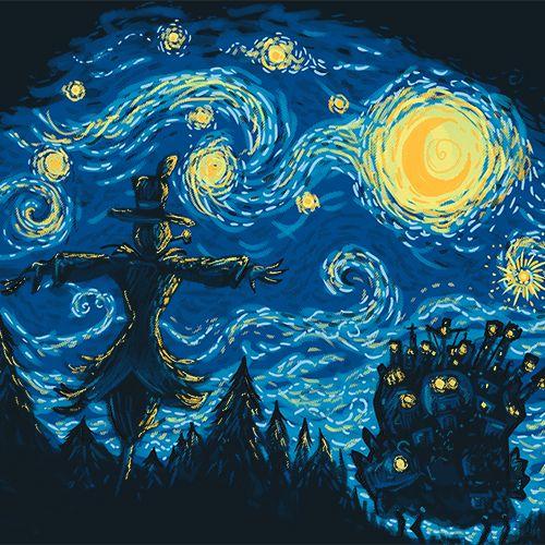 Visual analysis of starry night