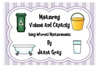 Measuring Volume and Capacity using informal measurements.