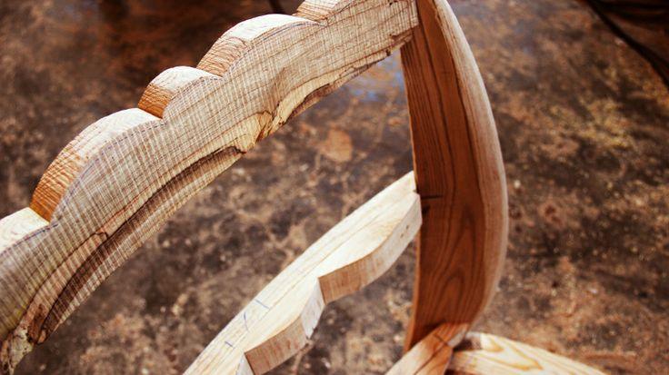 INSIDHERLAND | Na Pali_armchair. Beyond Memory Collection created by Joana Santos Barbosa. Creative process. #INSIDHERLAND #workshop #creatingart #wood #napali