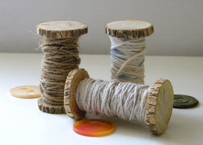 Branch spools.  Love this idea!
