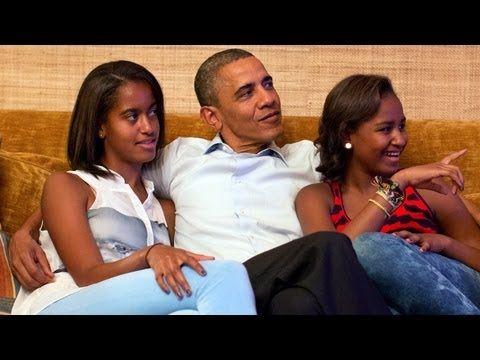 Obama Girls - Malia and Sasha Obama - Election 2012