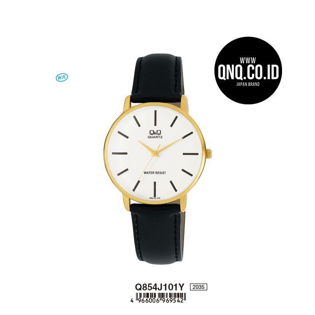 Arloji Jam Tangan Pria Fashion Analog Q854j101y Leather Q Q Qnq Qq Original Q Q Indonesia Di 2020 Jam Tangan Jam