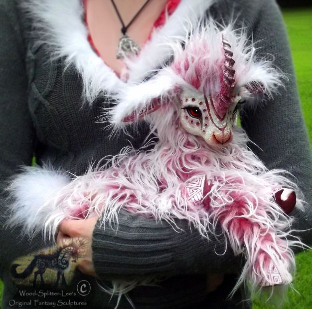 Custom made fantasy animal soft sculptures . . . my daughter would flip for one of these!