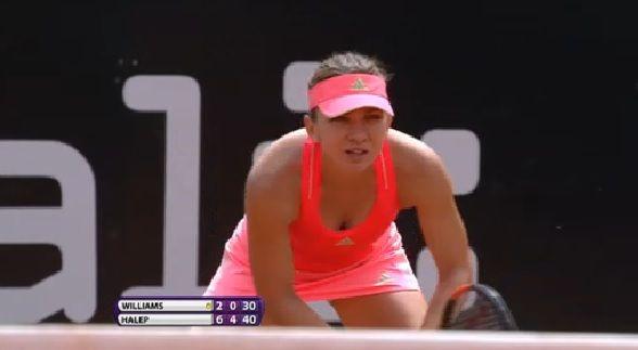 Simona Halep i-a predat o lecţie de tenis lui Venus Williams şi este în sferturi la Roma! Meci cu Dulgheru!