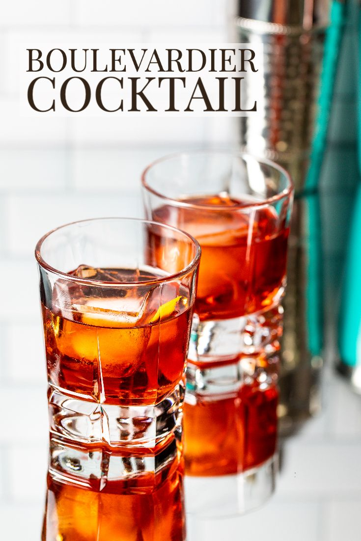 Boulevardier Cocktail Recipe In 2020 Boulevardier Cocktail Good Whiskey Drinks Campari Cocktails