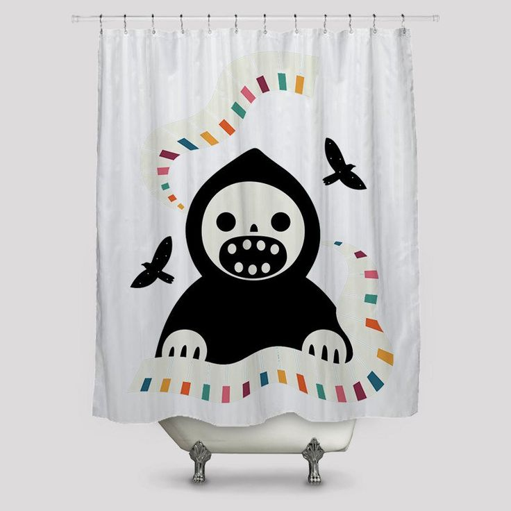 Melody Of The Death Shower Curtains http://www.toko6.com/products/melody-of-the-death-shower-curtains