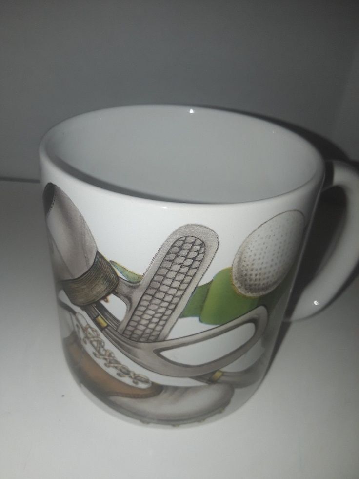 potpourri design golf 1995 vintage coffee mug