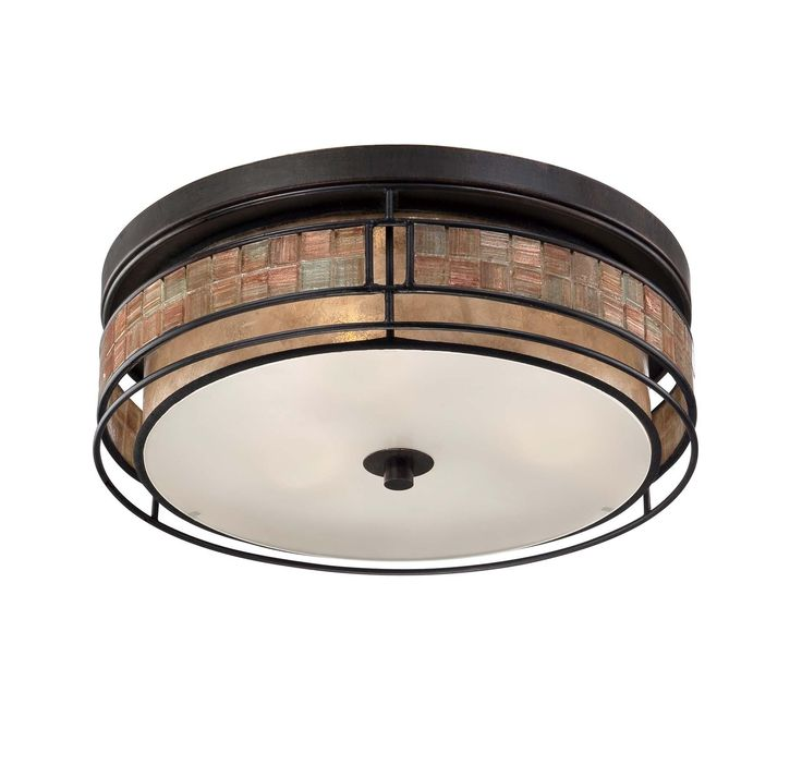 Quoizel Laguna 3 Light Outdoor Flush Mount In Bronze Finish In Outdoor  Lights, Outdoor