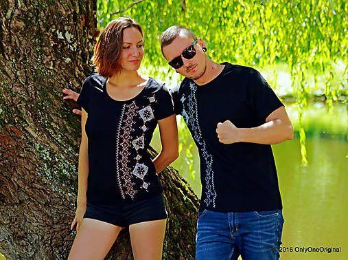 Dámske a pánske tričká, párové, folk VYBÍJANÔ