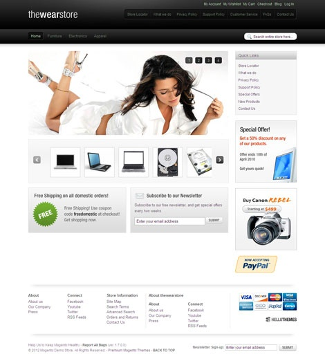 Hello Wear Magento Template for Clothing Stores