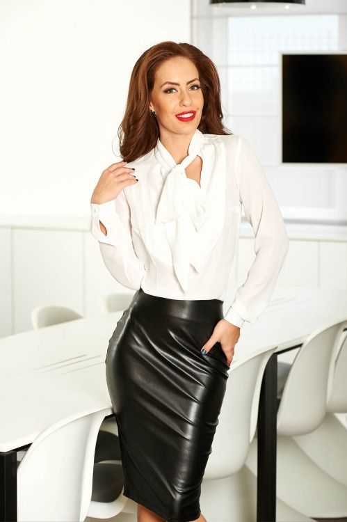 100 best images about white blouse and black leather