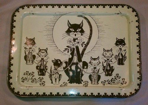 Vintage Mid Century Cat Kitten Retro La Vada Lavada T V Table Bed Tray Dinner | eBay