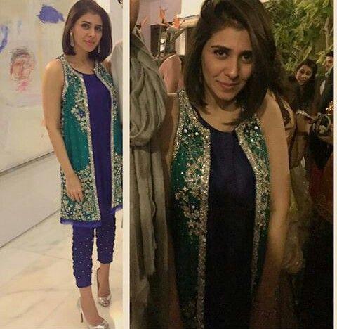 Pakistani jacket by Nazli Akbar.