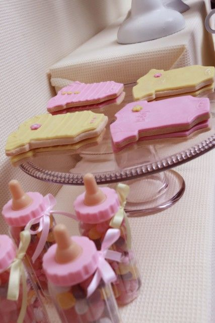 Pink Amp Yellow Baby Girl Shower Baby Shower Party Ideas