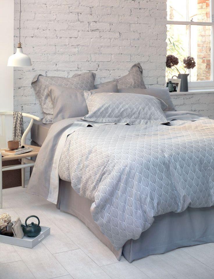 Teasels, Dove Grey Cotton Bedding Set