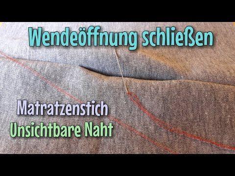 Unsichtbare Naht - Wendeöffnung schließen - Zauberstich - Das Original - Nähtinchen - YouTube