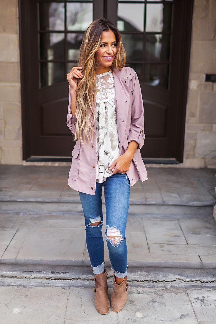 Lilac Button Jacket - Dottie Couture Boutique