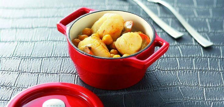 Pyrex SlowCook Mini cocotte ronde grise en fonte d'acier - cuisson four et tous feux dont induction - 10 cm