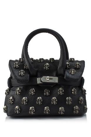Mia Bag Skull Studded Small Tote