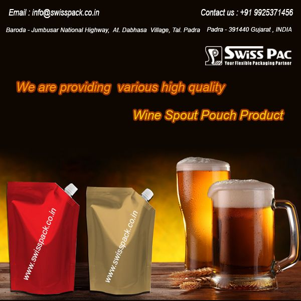we are providing various high quality #WineSpoutPouch products…