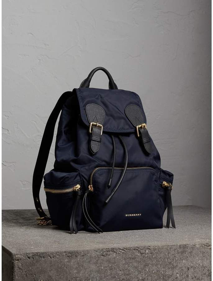 87a9f9367b4a Burberry The Medium Rucksack in Technical Nylon and Leather