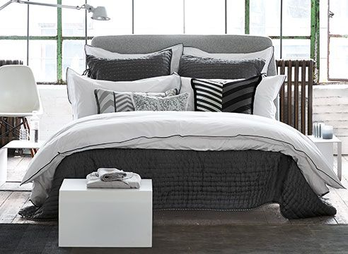 Astor Charcoal and Dove by Designers Guild Bedding