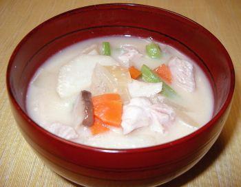 里芋の和風スープミルク風味