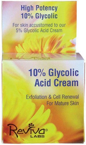 Reviva Labs 10% Glycolic Acid Cream -- 1.5 oz. No Animal Testing. Size(1.5 Ounces). (width: 222), (height: 222) hundredths-inches.