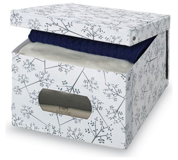 Buy Large White Leaf Matching PVC Box with Window at Argos.co.uk, visit Argos.co.uk to shop online for Plastic storage boxes and units, Storage, Home and garden