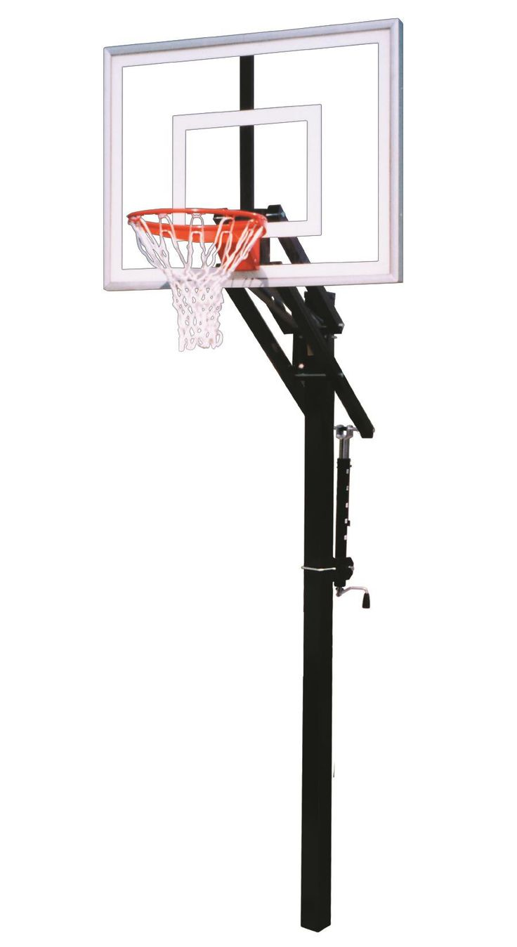 First Team Jam II In Ground Outdoor Adjustable Basketball Hoop 48 inch Acrylic from NJ Swingsets