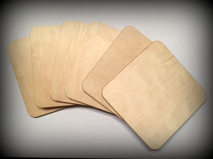 Wooden DIY-set, 6 pcs coasters basis plate, 100mm by FECOsCreations on Etsy