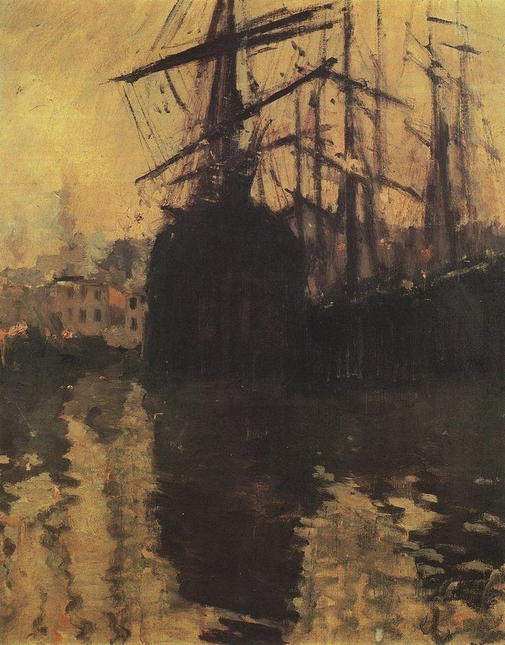 Константин Коровин. Галерея картин и рисунков художника - Порт в Марселе. 1890-е г.