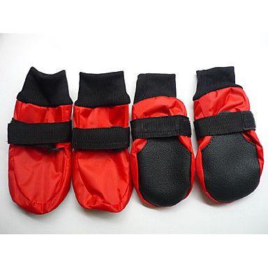 Perros Zapatos y Botas A Prueba de Agua Invierno Primavera/Otoño Un Color Rojo Azul Material Mixto 962614 2016 – €13.71