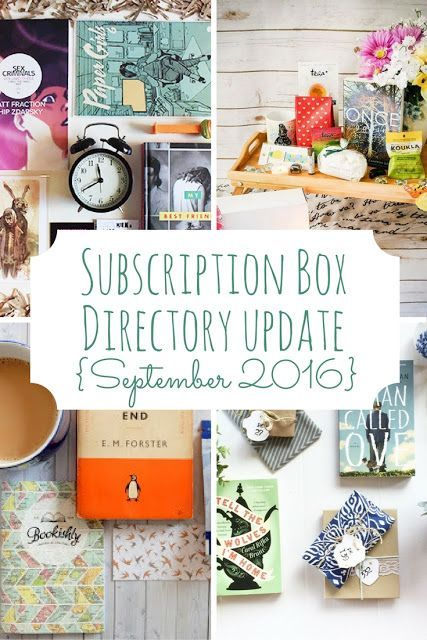 Subscription Box Directory Update! Lots of new book and planner boxes added this month.