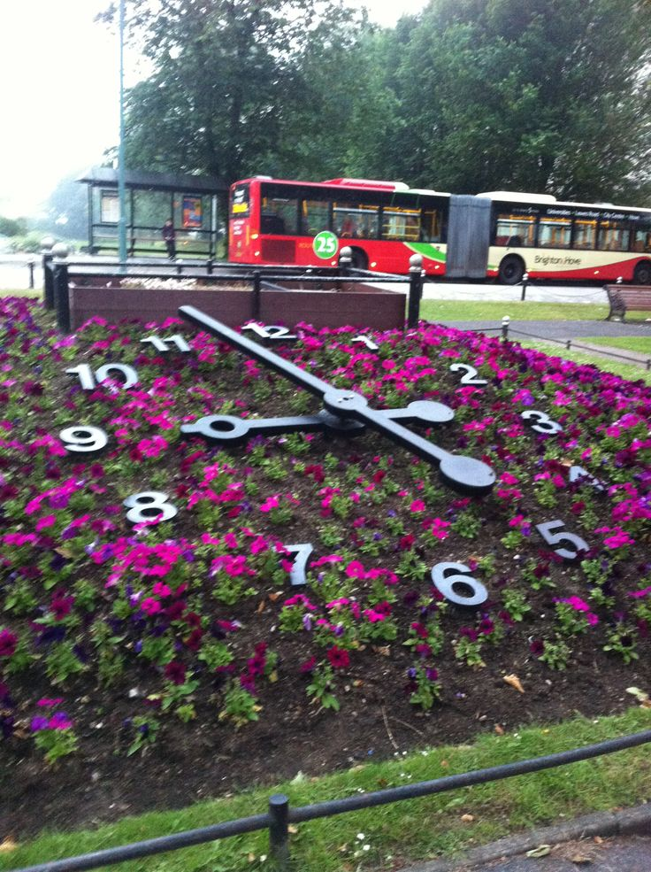The flower clock in Hove where we got engaged