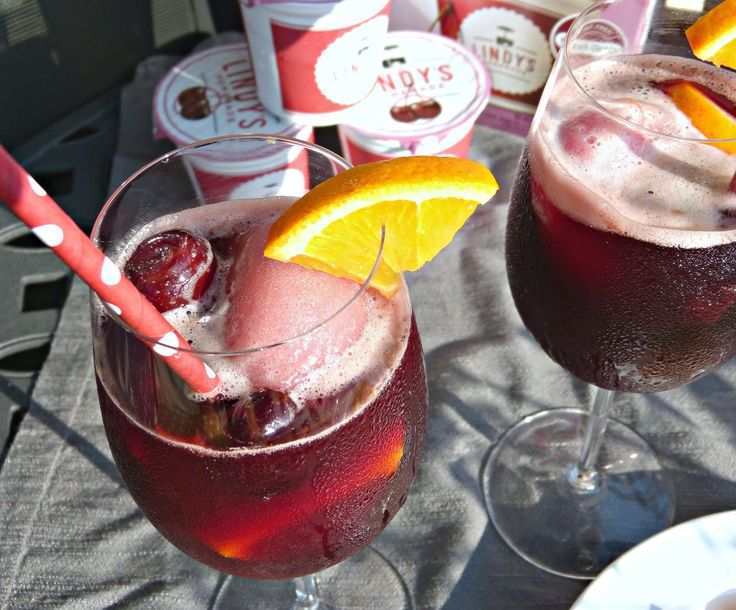 Black Cherry Lambrusco Floats