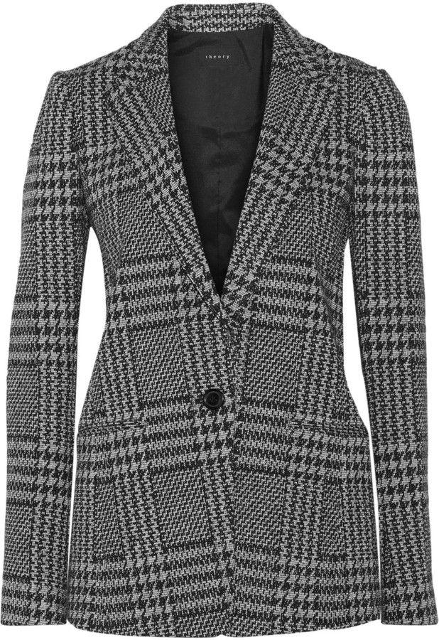 Theory Jonila houndstooth tweed blazer