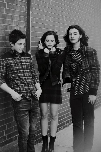 Logan Lerman, Emma Watson, and Ezra Miller of The Perks of Being a Wallflower