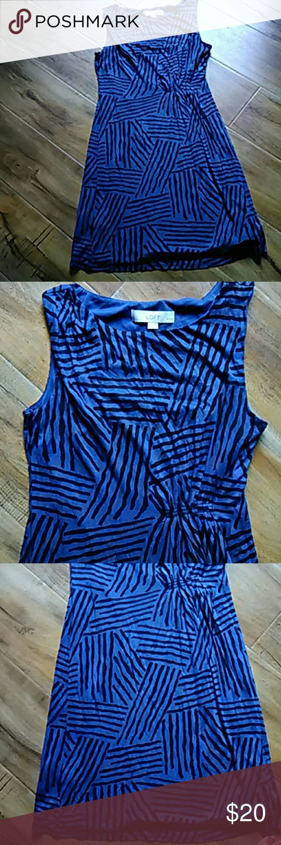 Loft dress XSP Cute dresses in black and blue ready for the office already for  leisure. And good condition. This just was originally $129 LOFT Dresses Midi