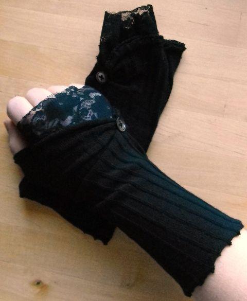 80s goth gloves