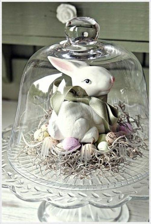 Ostern 2014 – coole Osterdeko selber basteln - ostern dekoration frisch festlich glas deckel osterhase keramisch