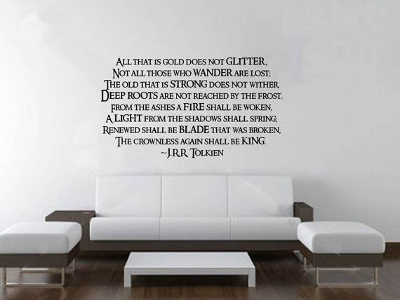 Large Poem Wrote By Jrr Tolkien Lord Of The Rings By Mygeekery