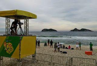 Blog Esportivo do Suíço:  Sem ondas, início da etapa do Rio do Mundial de surfe é adiado para terça